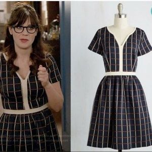 Pertinent Pacing plaid dress